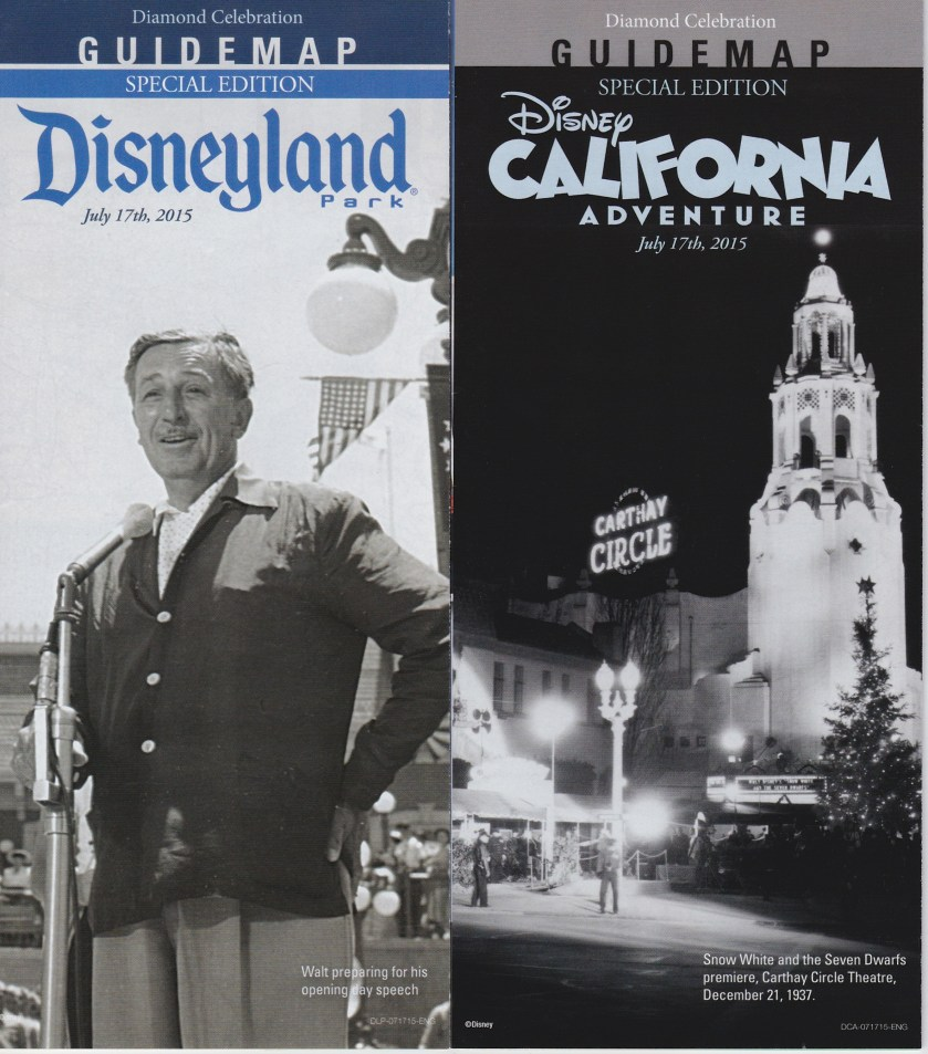 60th Anniversary – July 17, 2015 – Special One Day Maps